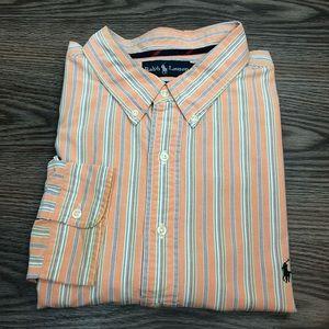 Polo Ralph Lauren Orange Stripe Oxford Shirt 4XLT